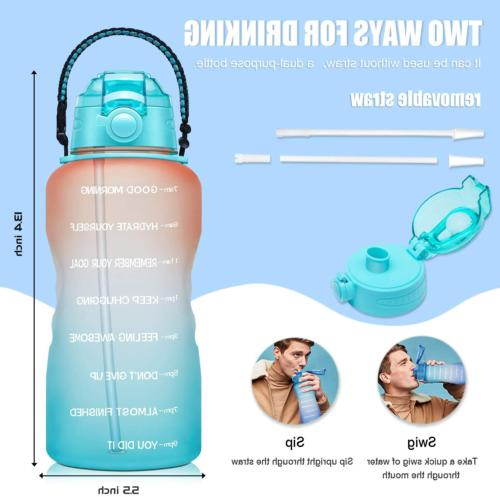 1 With Time Straw Handle Bpa Free