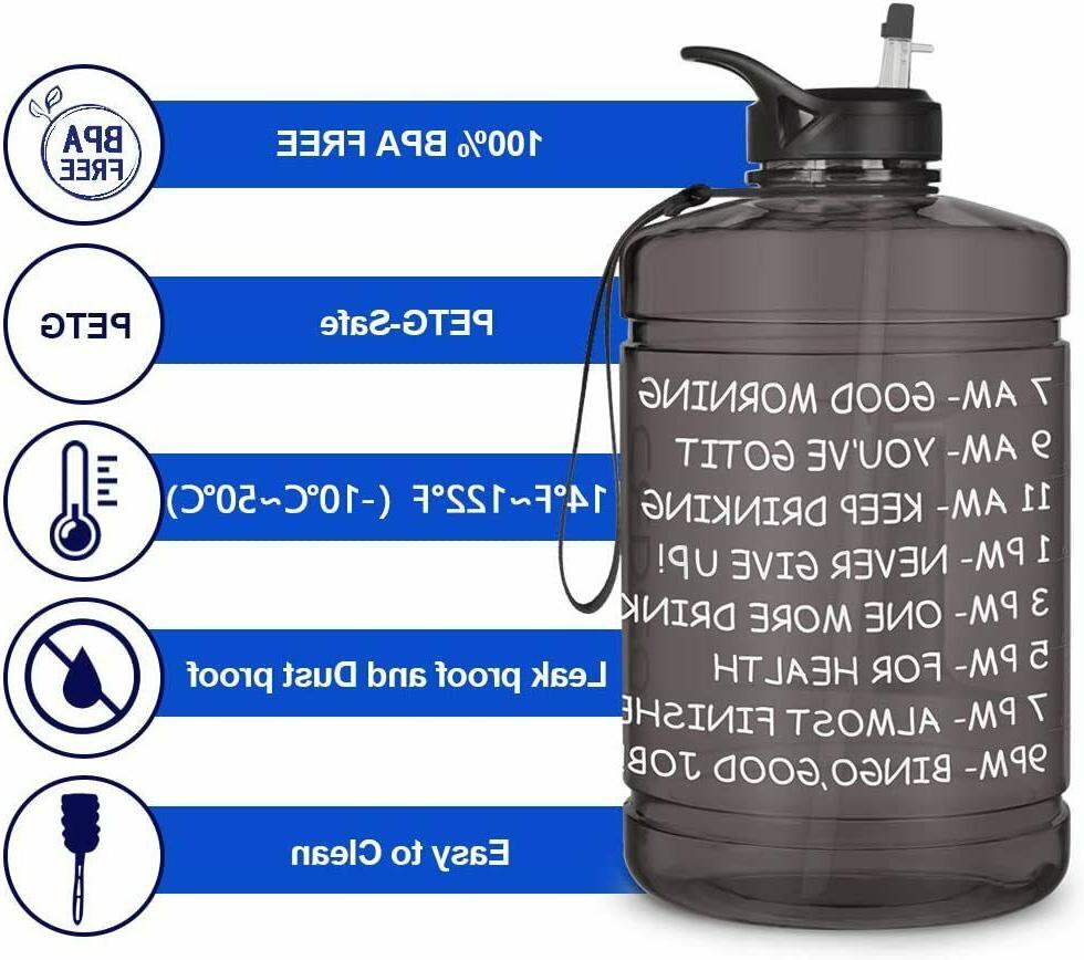 1 Gallon Water with Marker Gym Office Daily