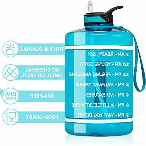 1 Gallon with Straw 128 Turquoise