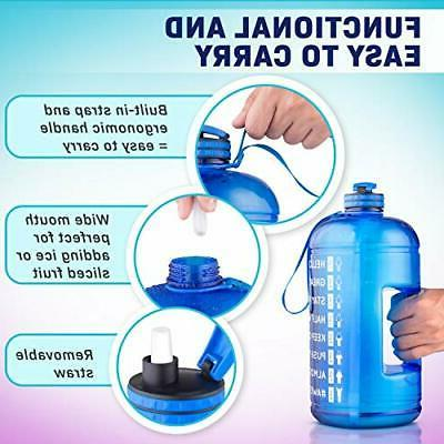 Vergali Water Bottle with Time Marker