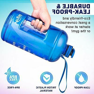 Vergali 1 Bottle with and Straw. Large Motivational