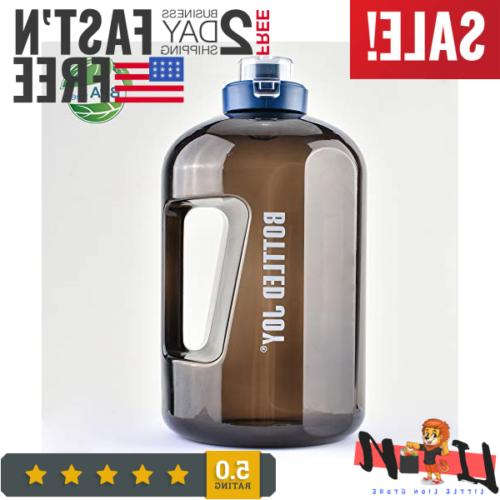 1 gallon water jug with leakproof flip