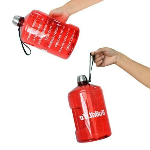 BuildLife 1Gallon Water Bottle Time Red