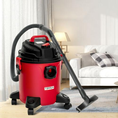 5.3 Dry Vacuum Vac Shop 3.5 Peak HP with Red