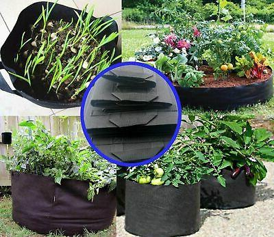 5 Pack Bags Fabric Pots w/ Handles Planting 1-5