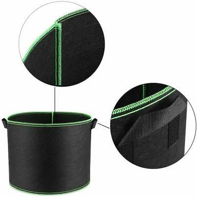 5 Pack Grow Bags Fabric Pots Root Pouch w/ Planting 1-5 Gallon