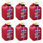 6 Pack No-Spill 1405 2-1/2-Gallon Poly Gas Can  RED 2.5 Gal