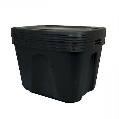 8 Container Plastic Box 18 Gallon Stackable Organizer Lid