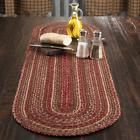 New Primitive Country Rustic CIDER MILL BRAIDED JUTE Rug Tab