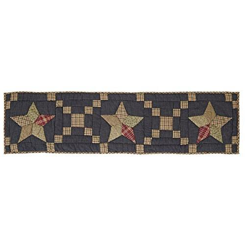 arlington patchwork quilted table runner