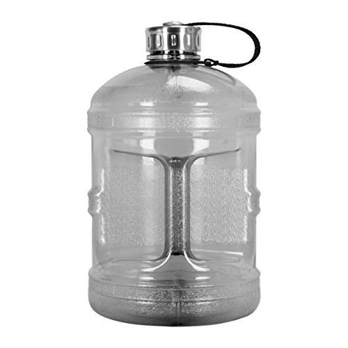 Geo Sports Bottles 1 Gallon Reusable Leak-Proof Drinking Bottle w/48mm Stainless
