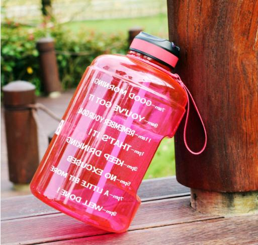 BuildLife Water with Motivational Time 1 Pink