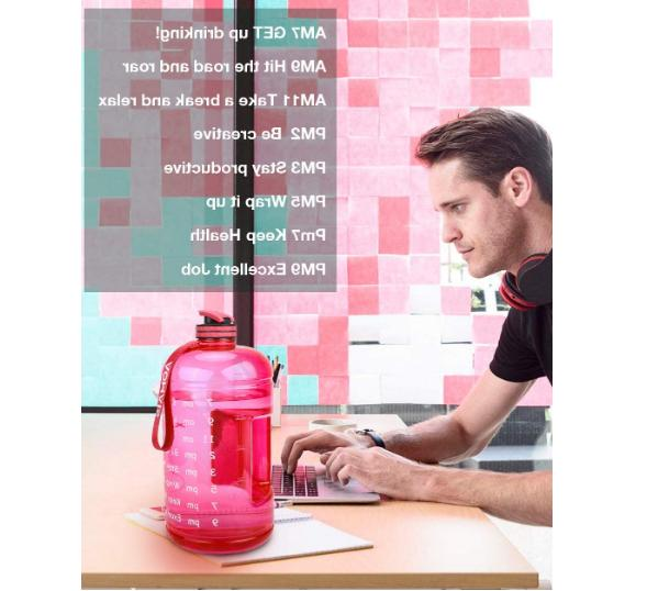BuildLife Water Bottle with Motivational Time 1