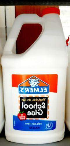 Elmers Glue 1 GALLON - Great For Making Slime - WASHABLE, No