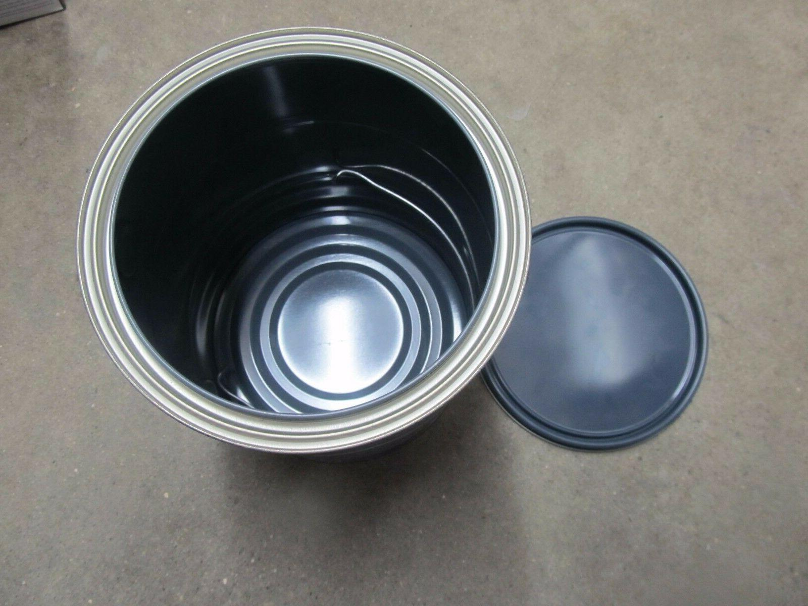 Collectibles Gas Oil Advertising Cans Buckets Valspar 1 Gallon Residential Paint Bucket Silver Metal Can Stains Crafts Storage