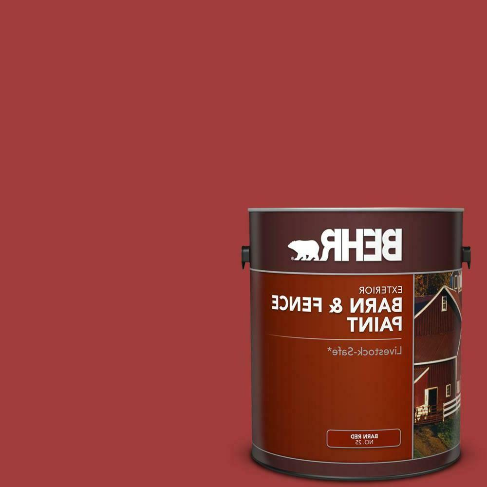 fence exterior paint 1 gallon red barn