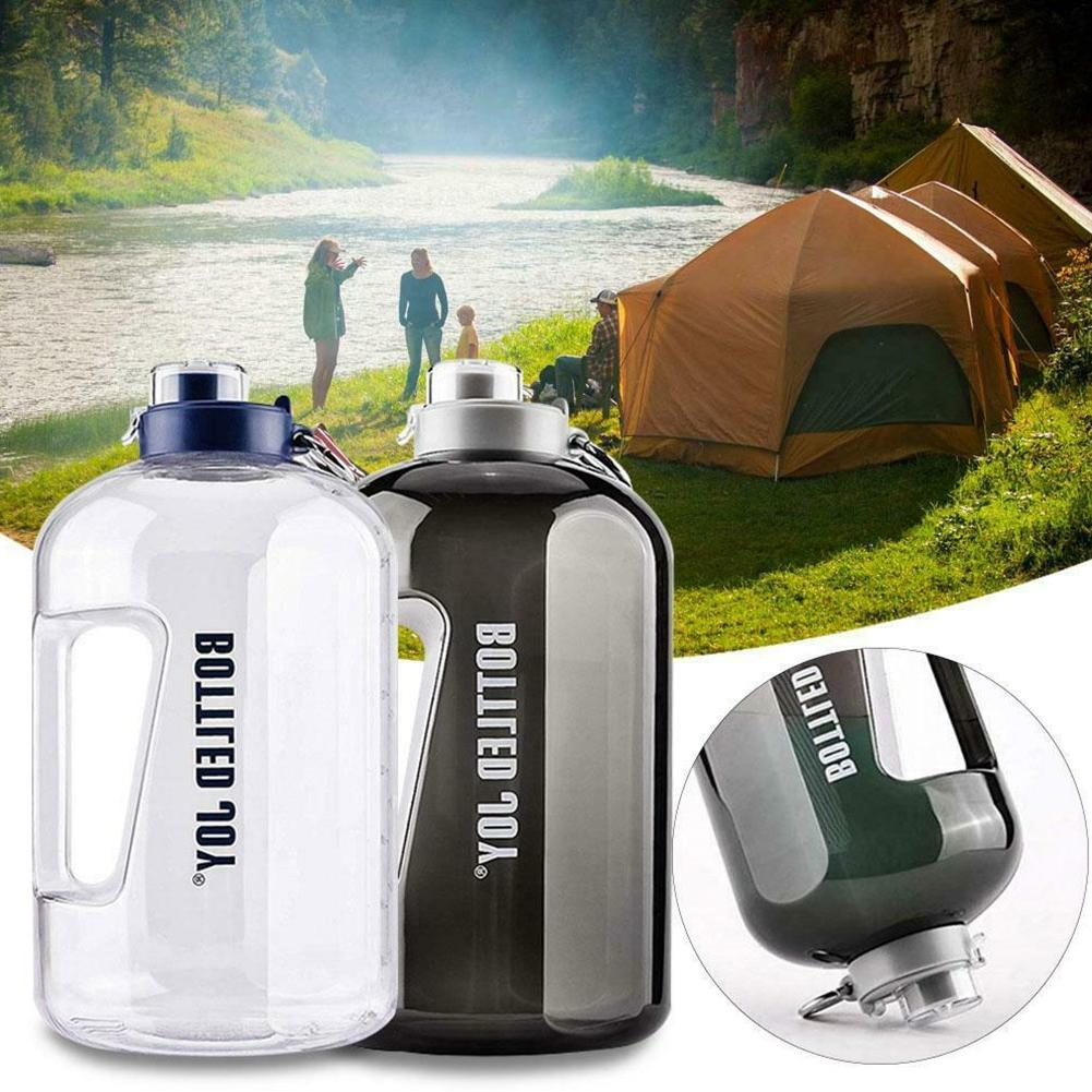 <font><b>1</b></font> <font><b>Gallon</b></font> Cold Running Water Bottle Camping Large Cycling Leak Proof Sports
