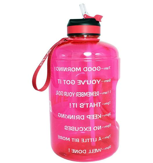 gallon water bottle with motivational time marker