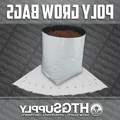 grow bags black and white poly plastic