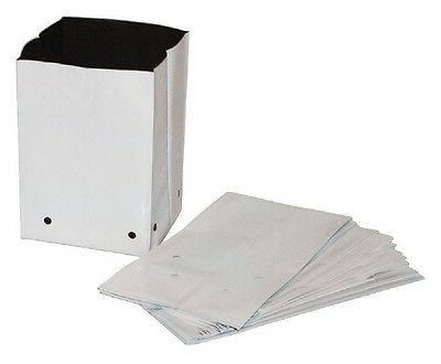 grow bags white plastic poly 1 2