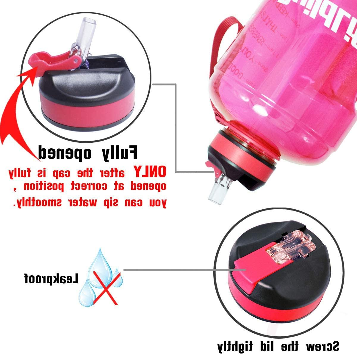 Gym Motivational with Time Marker,Straw,Handle