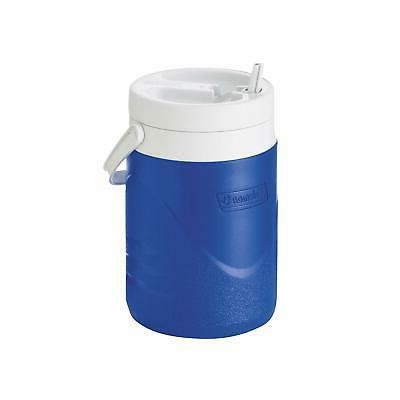 1 Gallon Jug Cooler Water Ice Chest Faucet Thermos Insulated Drink Blue For Home