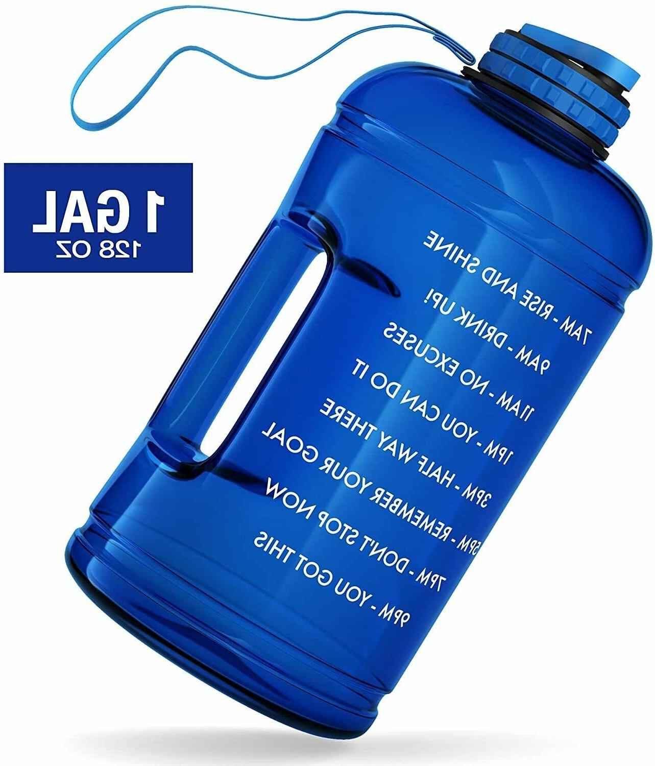 Large Water 1 Gallon Water with Time Maker&Handle,128