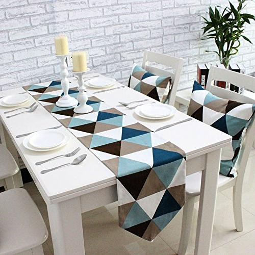 modern geometric triangle pattern table