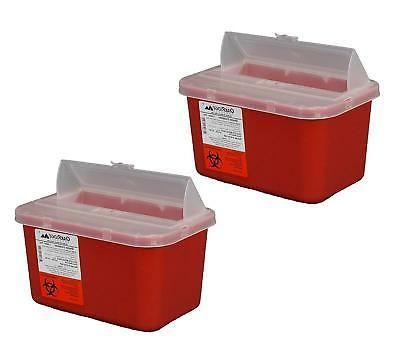One Gallon Sharps Containers with Pop up Lid Two Pack