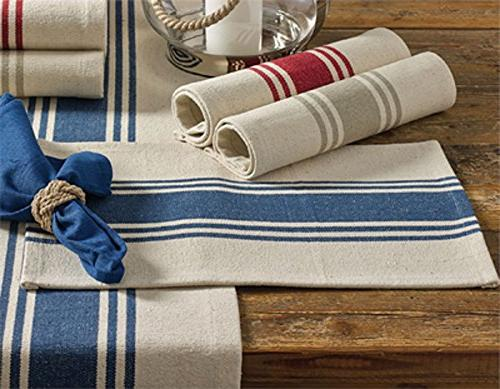 p woven canvas table runner