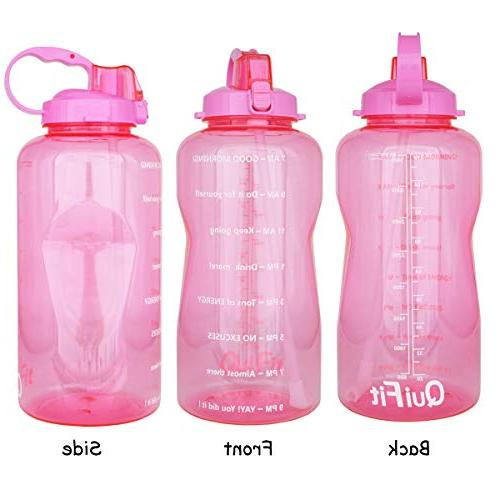 QuiFit Sport BPA Design Time to Drink Enough of Water Throughout The