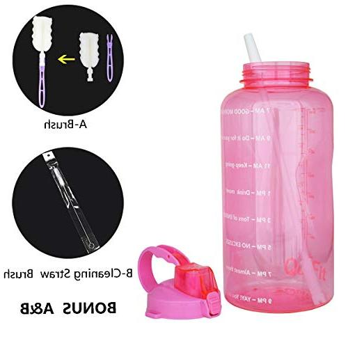 QuiFit Straw Sport Water Jug Gallon BPA Leak Design with to Ensure You
