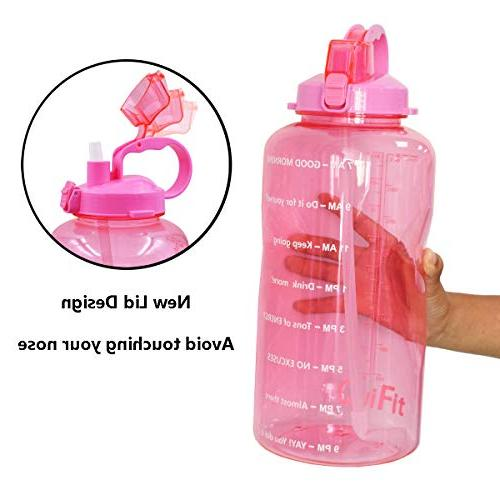 QuiFit Straw Daily Sport Jug BPA Leak Design Marked to Ensure Enough Water The Day