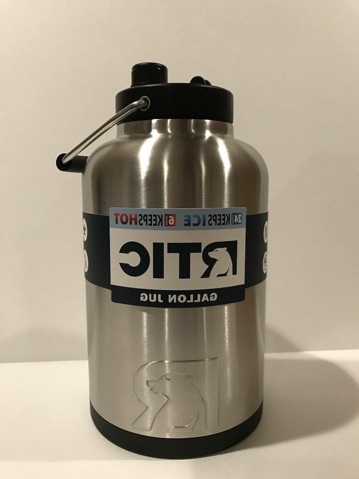 RTIC Gallon Jug, Stainless, Half the