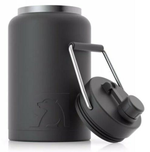 RTIC Gallon Black Matte, Holds Ice the New 1/2