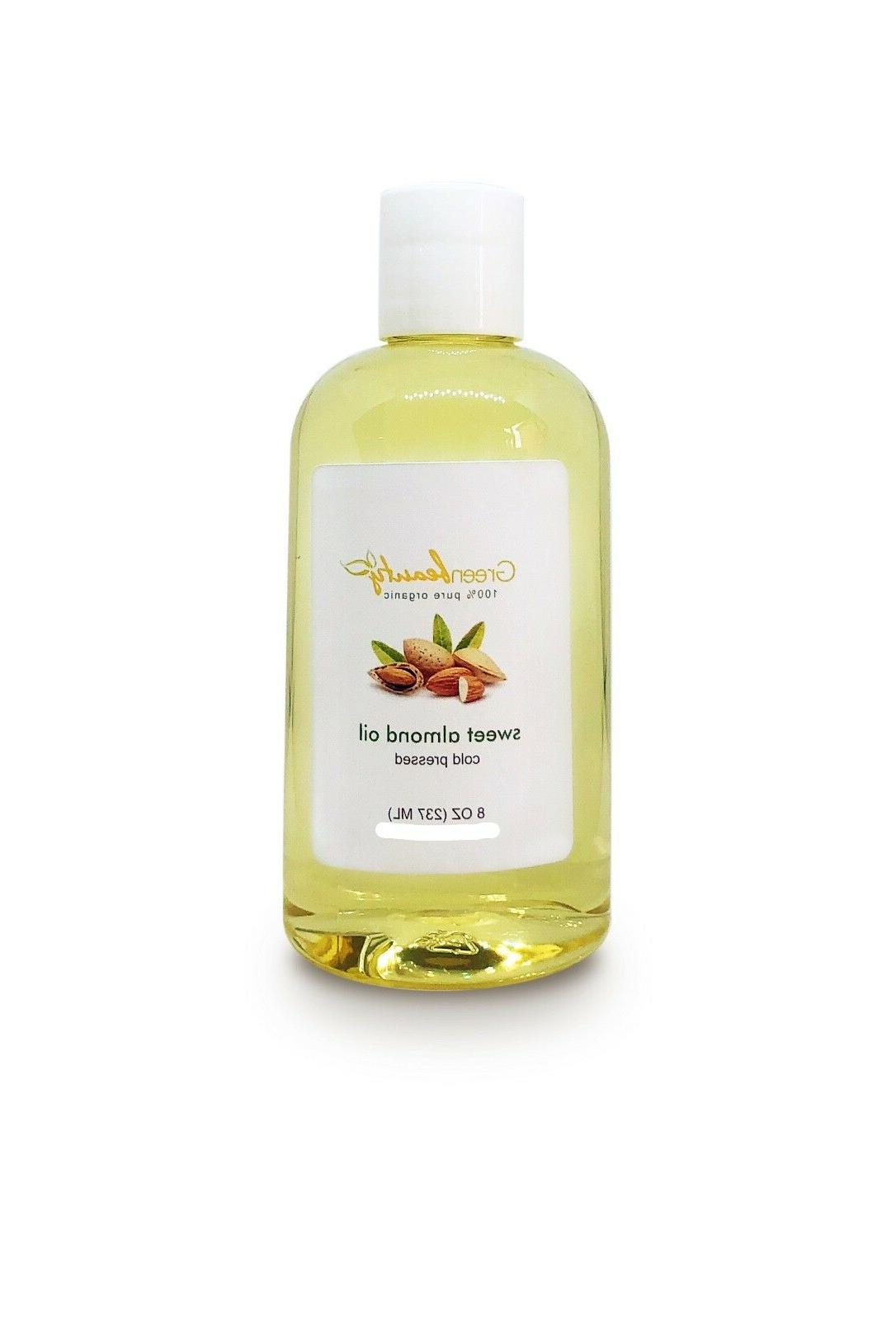 sweet almond oil organic carrier cold pressed