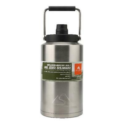 Stainless Steel Jug 1 Gallon Double Wall Vacuum New