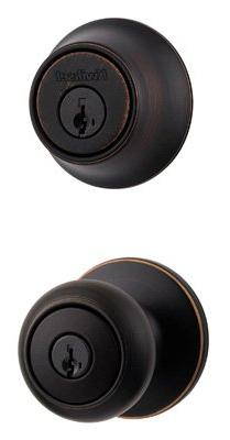 Kwikset 96900-332 Venetian Bronze Door Entry Bolt Combo
