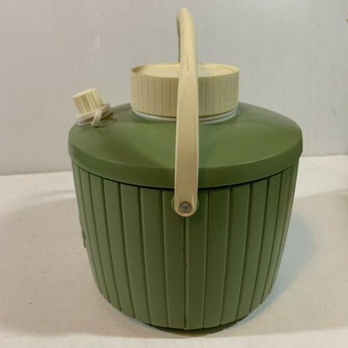 Vtg Thermos Gallon Avocado Camping Drink In