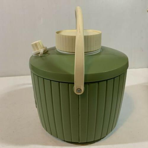 Vtg Thermos Avocado Camping Drink Cooler In