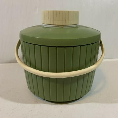 Vtg 1 Avocado Green Picnic Jug Camping Cooler In Bag