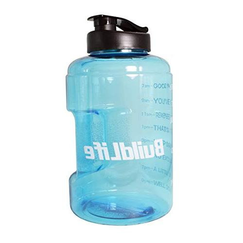 1 Bottle Inspirational Fitness Water Marker Times for Your H2O Intake, Free Proof