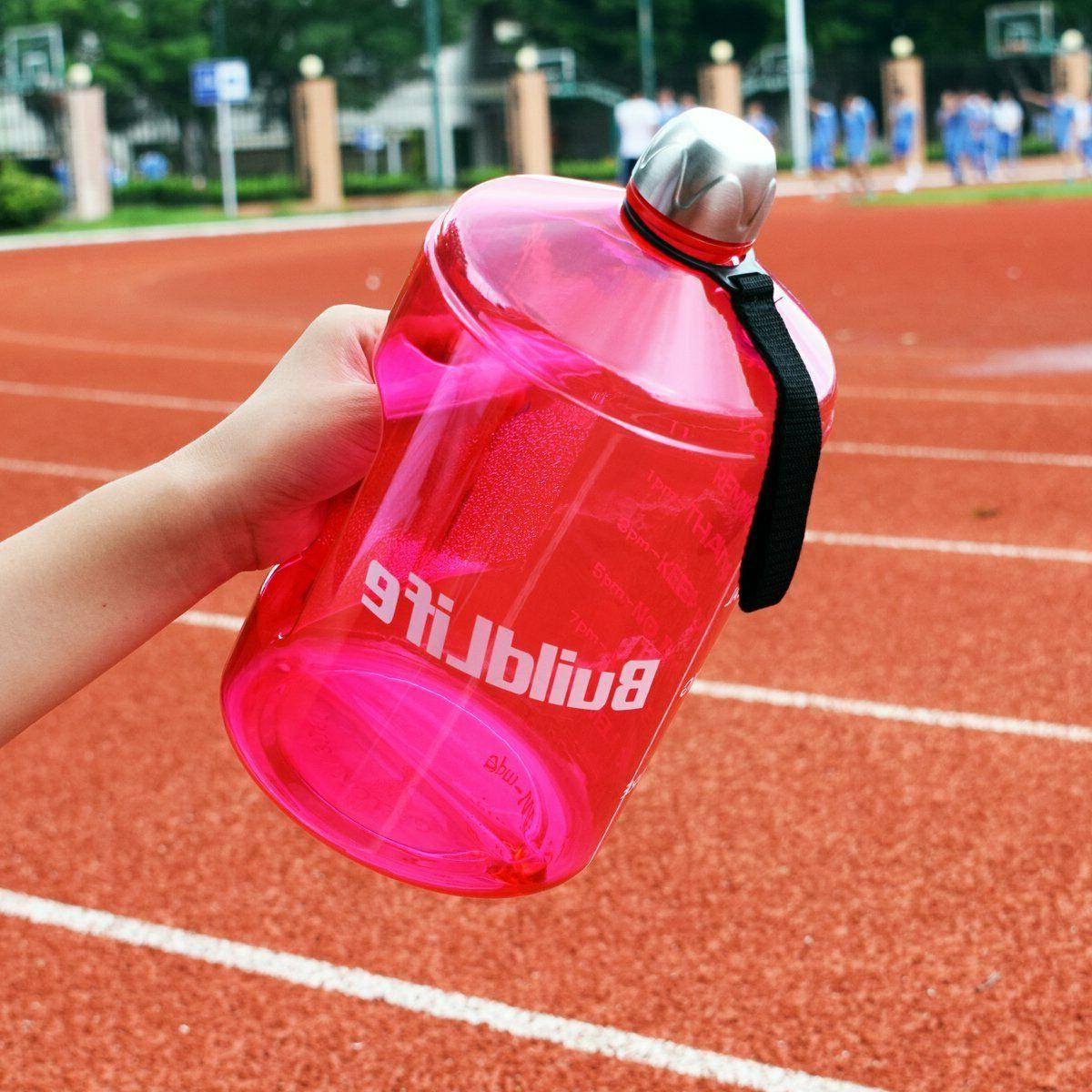 water bottle motivational fitness workout with time