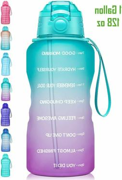 Giotto Large 1 Gallon/128oz Motivational Water Bottle with T