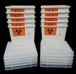 Lot of 10 Sharps Needle Container, 1 Gallon, Sharps-A-Gator