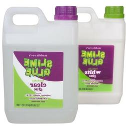 Slime Making Glue 1/2 Gallon CLEAR & WHITE COMBO Pack Of 2 N