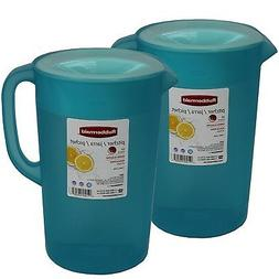 Rubbermaid 1 Gallon Classic Pitcher, Pack of 2 Blue Pitchers