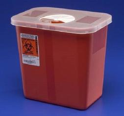 Sharps Disposable Biohazard Container, 2 Gallon, Red, 8970 -