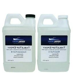 TotalBoat Table Top Epoxy Resin Gallon Kit   Crystal Clear C