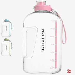 Time Marked Cute Water Bottle BPA Free 1 Gallon For Sports F